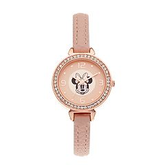 Disney's Minnie Mouse Kids' Crystal Accent Skinny Band Watch
