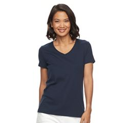 Women's Croft & Barrow® Essential Classic V-Neck Tee