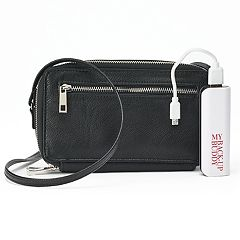 Apt. 9® RFID-Blocking Phone Charging Crossbody Wallet
