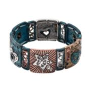 Believe In ''Love,'' Heart & Star Stretch Bracelet