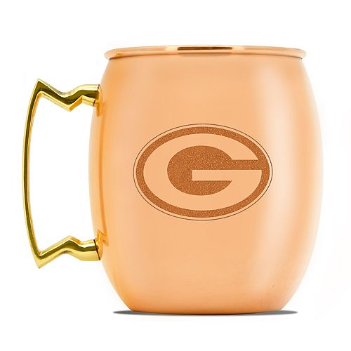 Green Bay Packers Copper Moscow Mule Mug