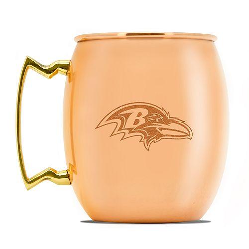 Baltimore Ravens Copper Moscow Mule Mug