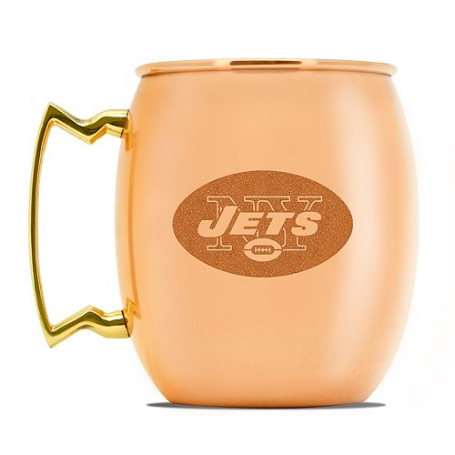 New York Jets Copper Moscow Mule Mug
