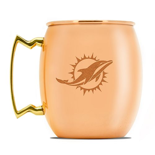 Miami Dolphins Copper Moscow Mule Mug