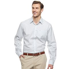 Big & Tall Dockers Comfort Stretch Soft Classic-Fit Solid No-Wrinkle Button-Down Shirt