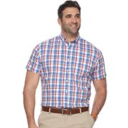 Big & Tall Dockers Classic-Fit Plaid Comfort Stretch No-Wrinkle Button-Down Shirt