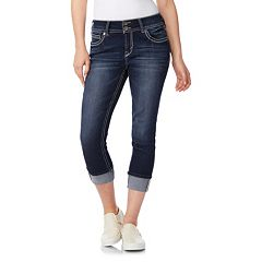 Juniors' Wallflower Curvy Insta Stretch Crop Jeans