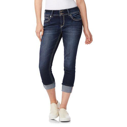 Juniors' Wallflower Curvy Insta Stretch Crop Jeans