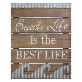 "Stratton Home Decor ""Beach Life"" Coastal Wall Decor"