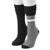 Women's Unionbay 2 pkSlouchy Pointelle Crew Socks