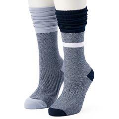 Women's Unionbay 2-pk. Slouchy Pointelle Crew Socks
