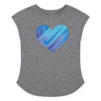 Toddler Girl Nike Gradient Heart Graphic Tee