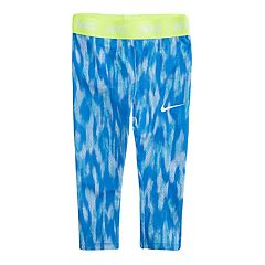 Toddler Girl Nike Dri-FIT Blue Patterned Leggings