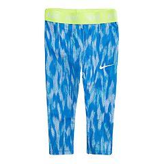 Toddler Girl Nike Dri-FIT Blue Patterned Leggings