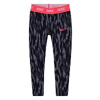 Toddler Girl Nike Dri-FIT Black Patterned Leggings