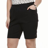 Plus Size Croft & Barrow® Grommet Pull-On Shorts