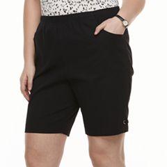 Plus Size Croft & Barrow® Grommet Pull-On Shorts