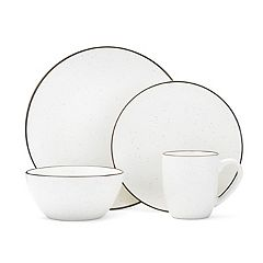 Gourmet Basics Juliana Cream Speckling 16 pc Dinnerware Set