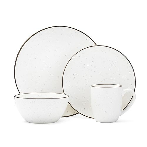 Gourmet Basics Juliana Cream Speckling 16-pc. Dinnerware Set