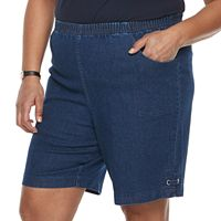 Plus Size Croft & Barrow® Grommet Detail Jean Shorts