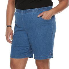 Plus Size Croft & Barrow® Grommet Detail Jean Shorts