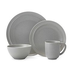Gourmet Basics Jocelyn Gray Speckle 16 pc Dinnerware Set