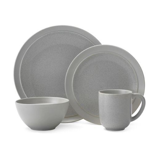 Gourmet Basics Jocelyn Gray Speckle 16-pc. Dinnerware Set