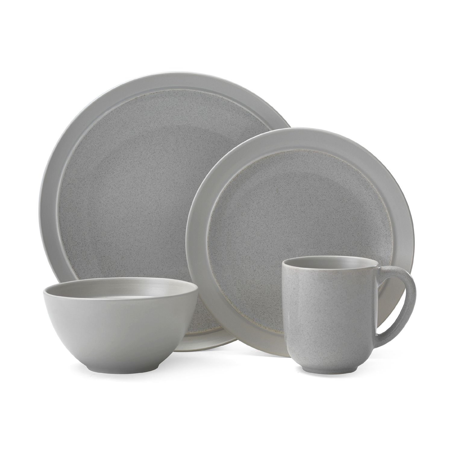 sc 1 st  Kohlu0027s & Gourmet Basics Jocelyn Gray Speckle 16-pc. Dinnerware Set