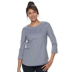 Women's Croft & Barrow® Roll-Tab Pique Top