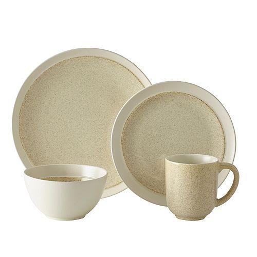 Gourmet Basics Jocelyn Cream Speckle 16-pc. Dinnerware Set