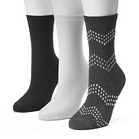 Women's SONOMA Goods for Life™ 3 pkChevron Marled Crew Socks