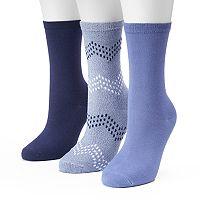 Women's SONOMA Goods for Life™ 3-pk. Chevron Marled Crew Socks