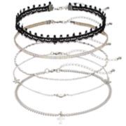 Mudd® Cross, Moon & Star Choker Necklace Set