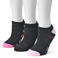 Women's Tek Gear® 3 pkChevron Striped Sole No-Show Socks
