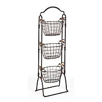 Gourmet Basics Harbor 3 tier Market Basket