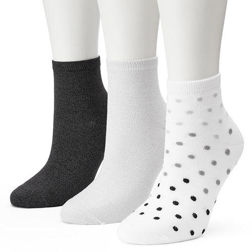 Women's SONOMA Goods for Life™ Pin Dot Ankle Socks