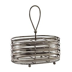 Gourmet Basics Band & Stripe Napkin & Flatware Caddy