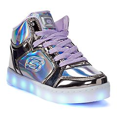 Skechers S Lights Energy Lights Shiny Bright Girls' High Tops