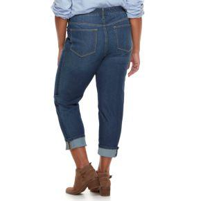 Plus Size SONOMA Goods for Life™ Wide-Cuff Boyfriend Jeans