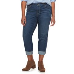 Plus Size SONOMA Goods for Life™ Wide-Cuff Boyfriend Jeans