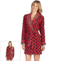 Women's Cuddl Duds Reversible Microfleece Robe
