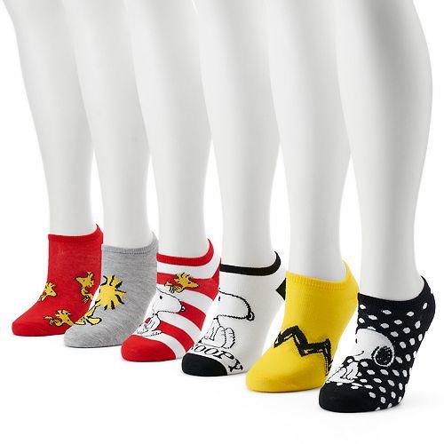 0a6adc5f2f1ce7 Women s 6-pk. Peanuts Snoopy No-Show Socks