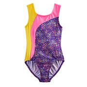 Girls 4-14 Jaques Moret Abstract Leotard