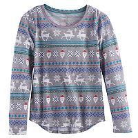 Girls 7-16 SO Holiday Tee