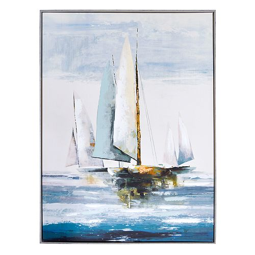 New View Sailboat Canvas Wall Art