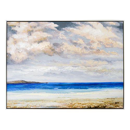 New View Beach Scene Canvas Wall Art