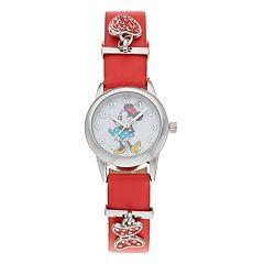 Disney's Minnie Mouse Kids' Heart & Bow Charm Watch