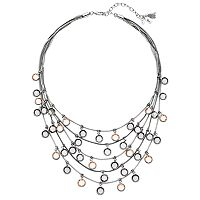 Simply Vera Vera Wang Round Stone Layered Necklace