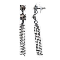 Simply Vera Vera Wang Fringe Nickel Free Linear Earrings