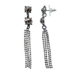 Simply Vera Vera Wang Fringe Nickel Free Linear Earrings